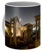 The Forum Temples At Night Coffee Mug
