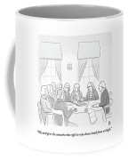 The Founding Fathers Drafting The Constitution Coffee Mug
