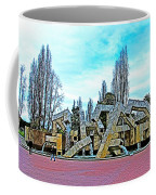 The Fountain At Justin Herman Plaza Near Embarcadero In San Francisco-california Coffee Mug