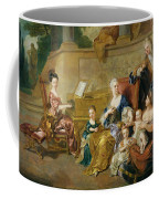 The Franqueville Family, 1711 Oil On Canvas Coffee Mug