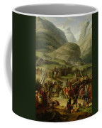 The French Army Travelling Over The St. Bernard Pass At Bourg St. Pierre, 20th May 1800, 1806 Oil Coffee Mug