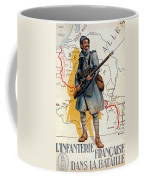 The French Infantry In The Battle Coffee Mug