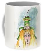 The Frog And The Princess Coffee Mug