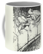 The Frogs And The Well Coffee Mug