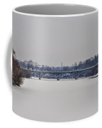 The Frozen Schuylkill And Strawberry Mansion Bridge Coffee Mug