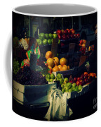 The Fruit Seller - New York City Street Scene Coffee Mug