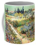 The Garden At Arles, 1888 Coffee Mug