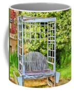 The Garden Bench In Spring  Coffee Mug