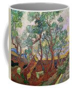The Garden Of St Pauls Hospital At St. Remy Coffee Mug by Vincent Van Gogh