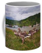 The Geese Of St Goar Am Rhein Coffee Mug
