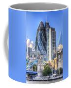 The Gherkin And Tower Bridge Coffee Mug
