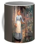 The Girl At The Gate Coffee Mug