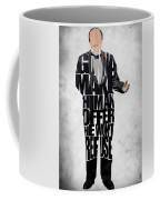 The Godfather Inspired Don Vito Corleone Typography Artwork Coffee Mug by Ayse Deniz