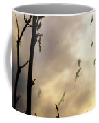 The Gods Laugh When The Winter Crows Fly Coffee Mug by Bob Orsillo