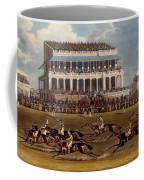 The Grand Stand At Epsom Races, Print Coffee Mug