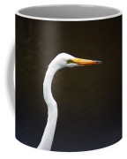 The Great Egret Head Shot Coffee Mug