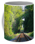 The Green Line Railroad Track Art Coffee Mug