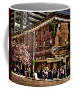 The Green Tortoise Hostel In Seattle Coffee Mug by David Patterson