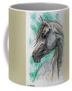 The Grey Arabian Horse 13 Coffee Mug