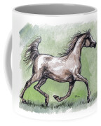The Grey Arabian Horse 8 Coffee Mug