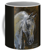 The Grey Arabian Horse Oil Painting Coffee Mug