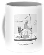The Grim Reaper Speaks As A  Teenager Spray Coffee Mug