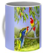 The Happy Couple - Eastern Rosellas  Coffee Mug