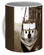 The Happy Crew Of The Fishing Boat  Geraldine- Ann Monterey California 1939 Coffee Mug