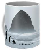 The Haze At Haystack Rock Coffee Mug