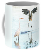 The Heron With The Bird Face Butt. Coffee Mug