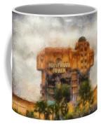 The Hollywood Tower Hotel Disneyland Photo Art 02 Coffee Mug