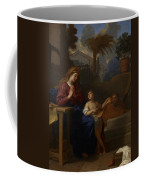 The Holy Family In Egypt Coffee Mug by Charles Le Brun