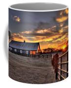 The Horse Barn Sunset Coffee Mug