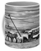 The Horses And The Welding Truck Coffee Mug