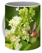 The Hummer And The Butterfly Bush Coffee Mug