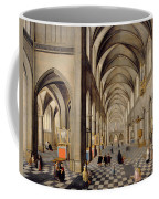 The Interior Of A Gothic Church Coffee Mug by Hendrik the Younger Steenwyck