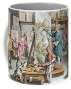 The Invention Of Oil Paint, Plate 15 Coffee Mug