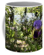 The Iris And St Francis Coffee Mug