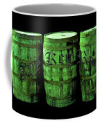 The Keg Room 3 Green Barrels Old English Hunter Green Coffee Mug