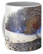 The Lake In Winter Coffee Mug