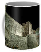 The Landside Walls Of Dubrovnik At Night No1 Coffee Mug