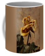 The Last Autumn Rose Before The First Snow Coffee Mug