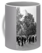 The Last Living Thing Pulled From The Rubble... The Survivor Tree In Black And White Coffee Mug