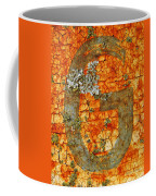 The Letter G With Lichens Coffee Mug
