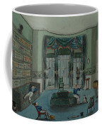 The Library, C.1820, Battersea Rise Coffee Mug by English School