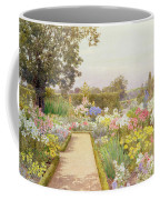 The Lily Border At Great Tangley Manor Coffee Mug