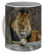 The Lion Digital Art Coffee Mug