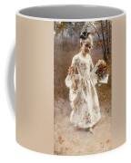 The Little Flower Girl  Coffee Mug by Albert Raudnitz