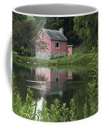 The Little Pink Cabin With Ripples Coffee Mug