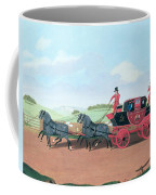 The Liverpool And London Royal Mail Coach, 1812 Oil On Canvas Coffee Mug